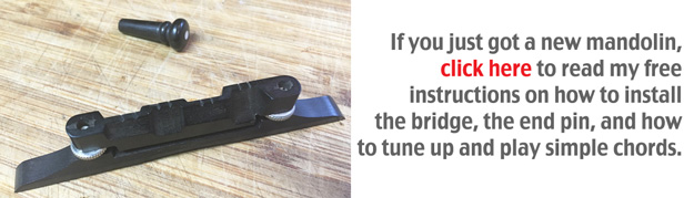 how to install mandolin bridge